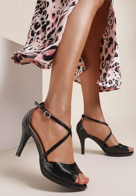 Czarne Sandały Daphnais