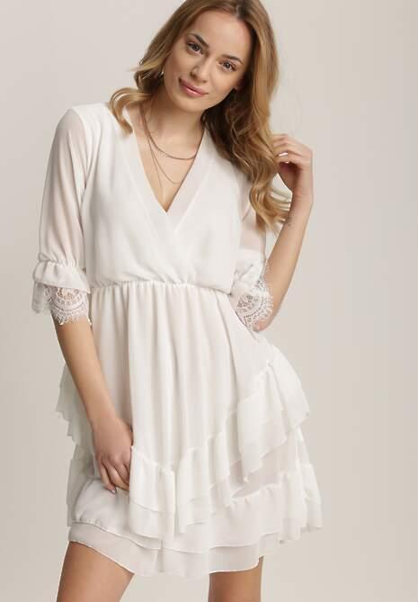 Biała Sukienka Nysethia