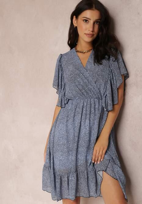 Niebieska Sukienka Seena