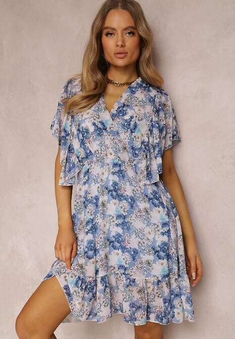 Niebieska Sukienka Qananii