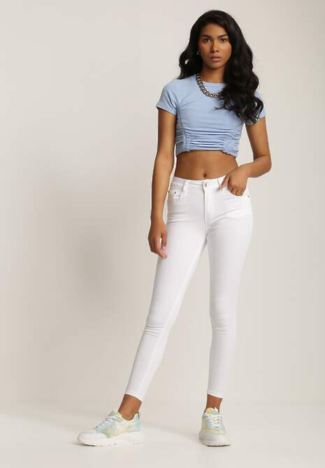 Białe Spodnie Skinny Syrise