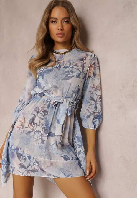 Niebieska Sukienka Orphallis