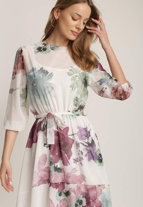 Biała Sukienka Orphallis