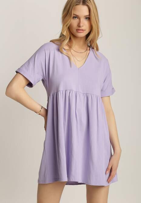 Liliowa Sukienka Netheithe