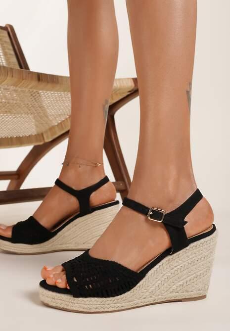 Czarne Sandały Praxymes