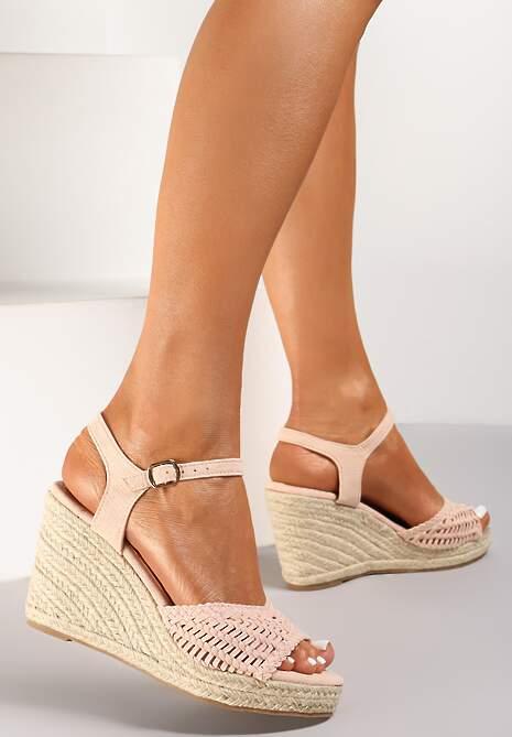 Różowe Sandały Praxymes