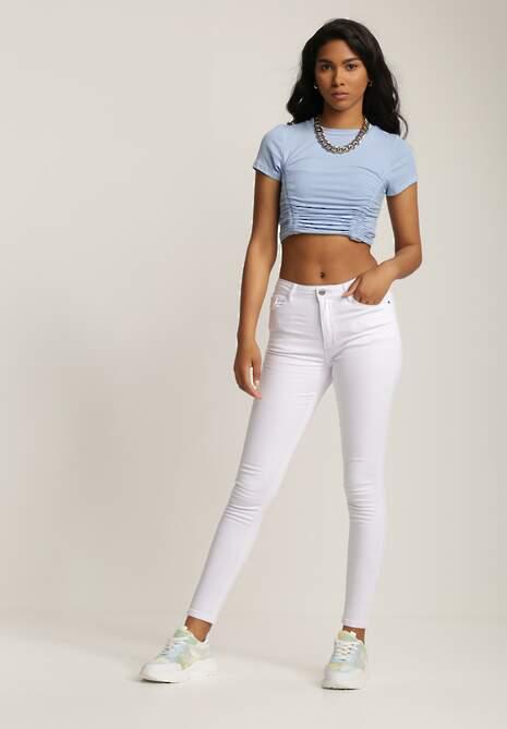 Białe Spodnie Skinny Pixaphine