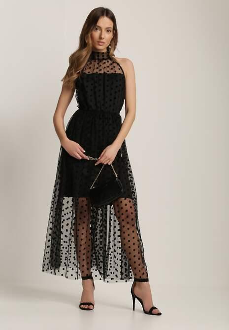 Czarna Sukienka Xanacia