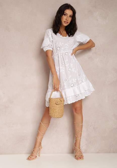Biała Sukienka Nethusei