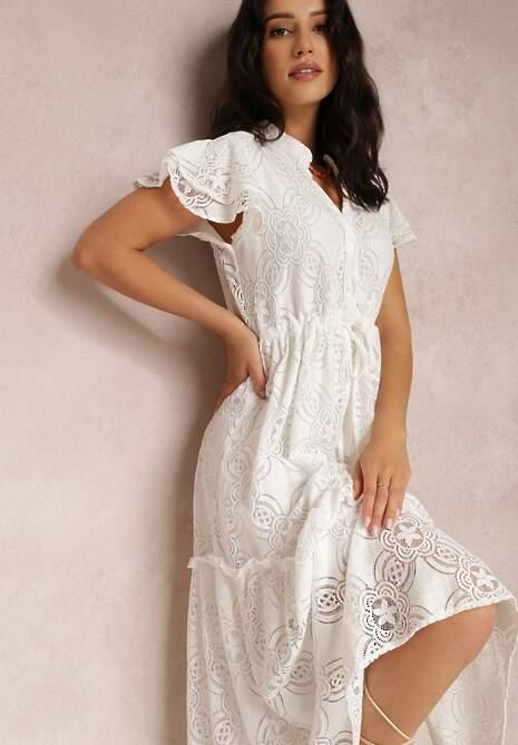 Biała Sukienka Meniphoche