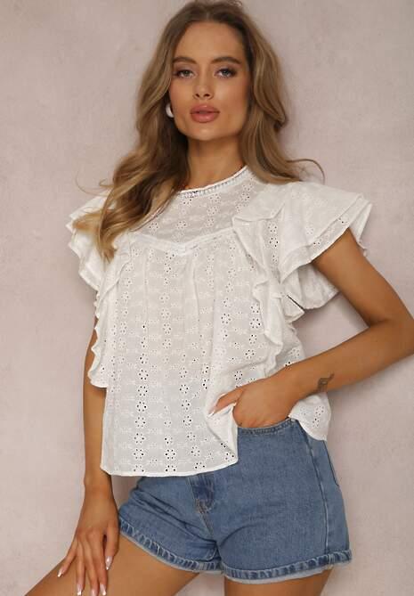 Biała Bluzka Kissoche