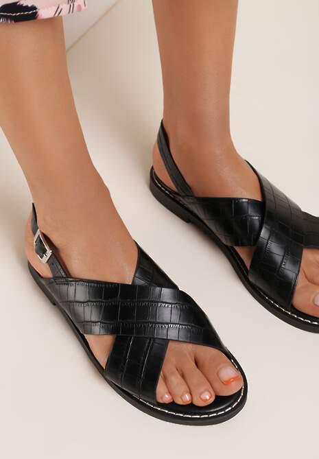 Czarne Sandały Axipheis
