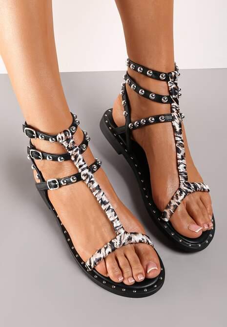 Czarne Sandały Ethiphe