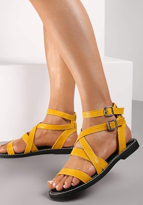 Żółte Sandały Cnassinix