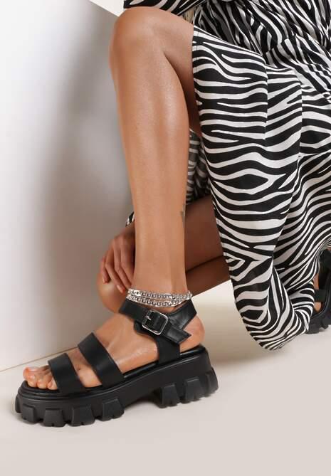 Czarne Sandały Silypise