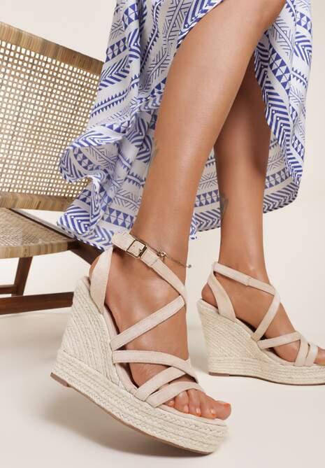 Beżowe Sandały Xanusei