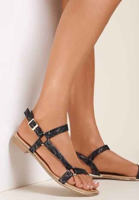 Czarne Sandały Taphiphi