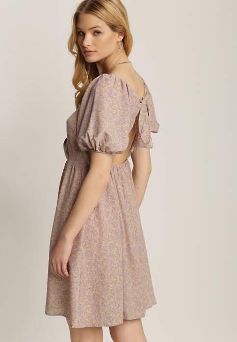 Liliowa Sukienka Pixophi
