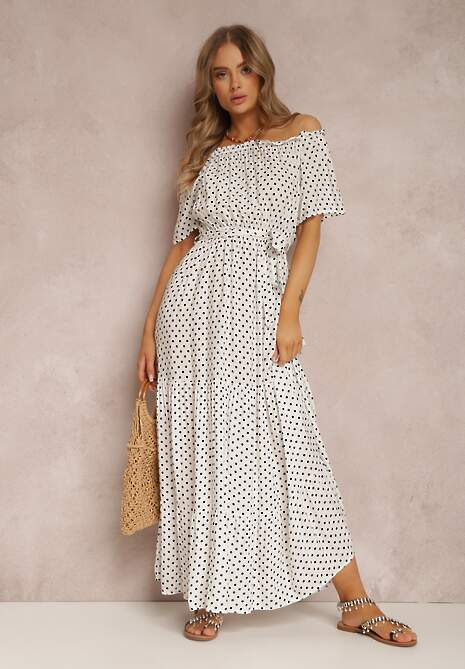 Biała Sukienka Kaliphanthe