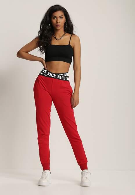 Czerwone Spodnie Dresowe Taphixie