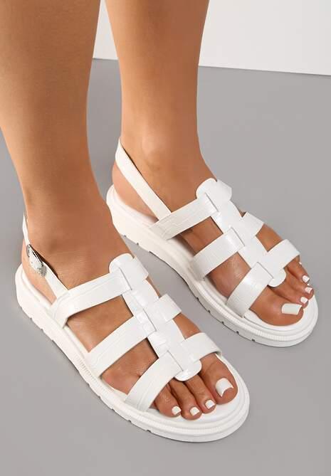 Białe Sandały Evithanea