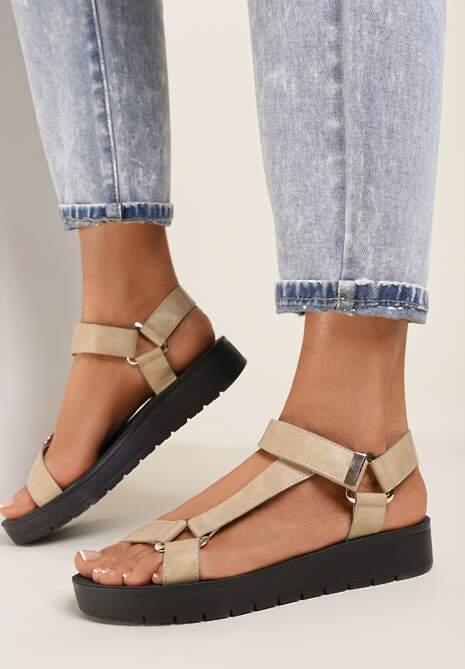 Beżowe Sandały Athizais