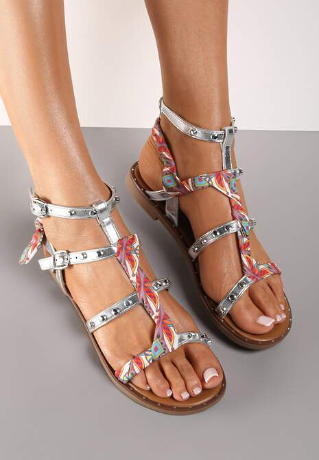 Srebrne Sandały Pixanthei