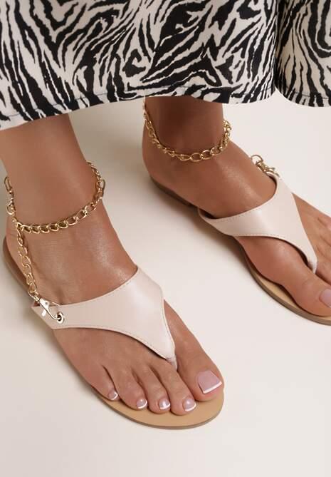 Beżowe Sandały Livhi