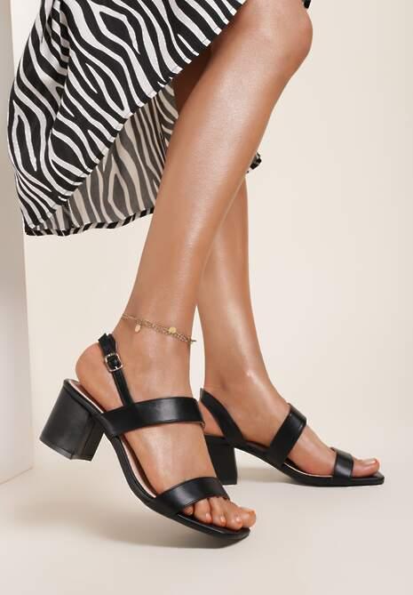 Czarne Sandały Ophiertise