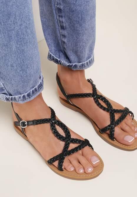 Czarne Sandały Aphassa