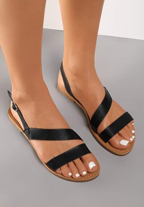 Czarne Sandały Psaloche