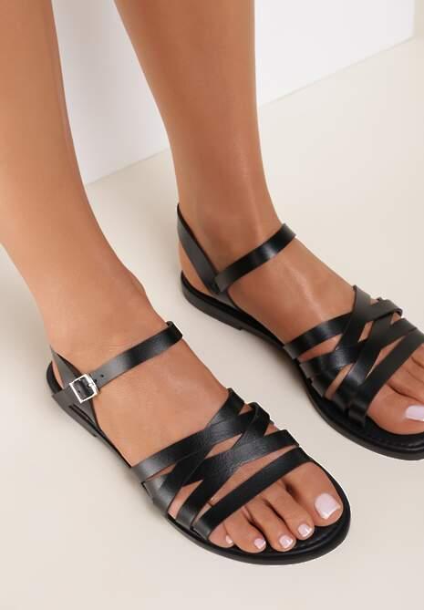 Czarne Sandały Theanixa
