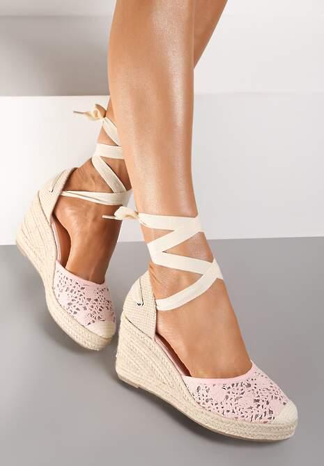 Różowe Sandały Jennileh