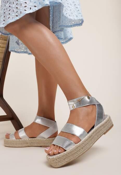 Srebrne Sandały Siliche