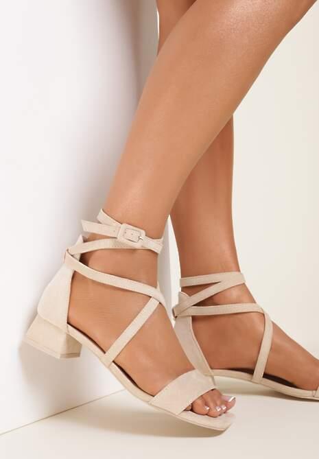 Beżowe Sandały Pixiphae