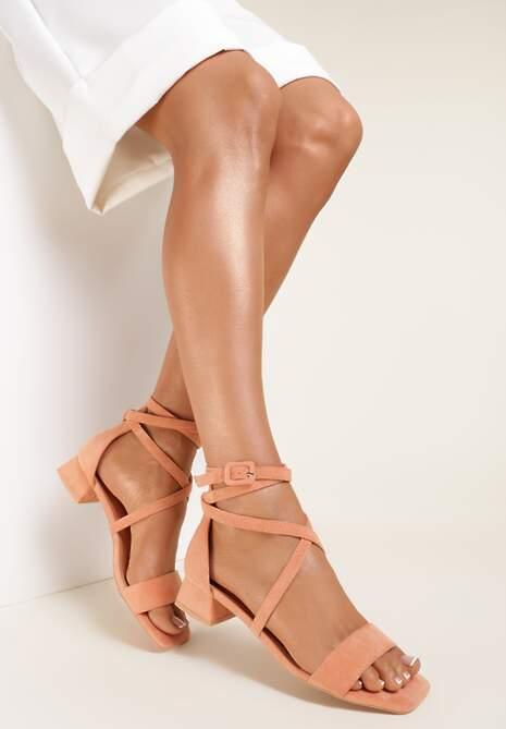 Pomarańczowe Sandały Pixiphae