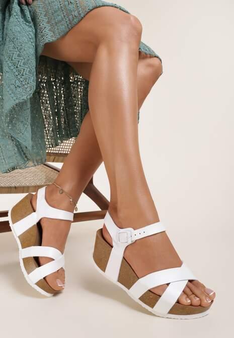 Białe Sandały Chaliphelia