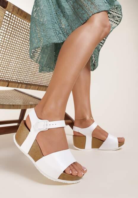 Białe Sandały Phoisei