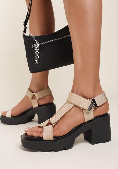 Beżowe Sandały Acosilis