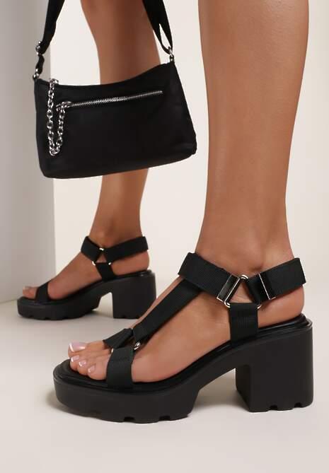 Czarne Sandały Acosilis