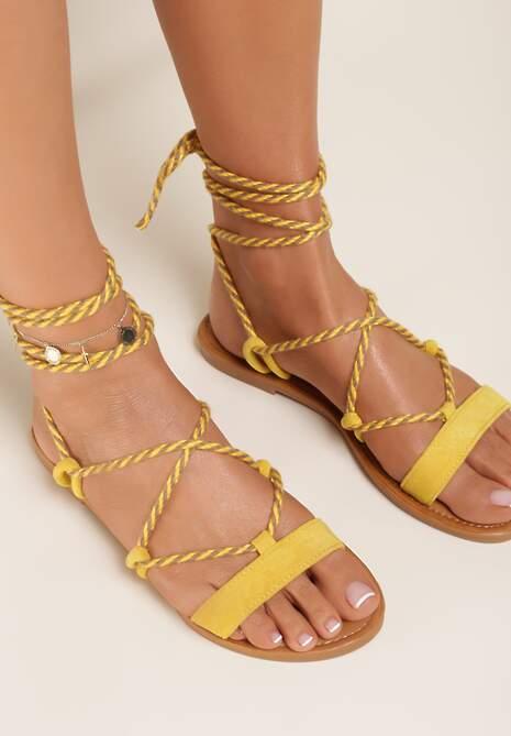 Żółte Sandały Lysephia