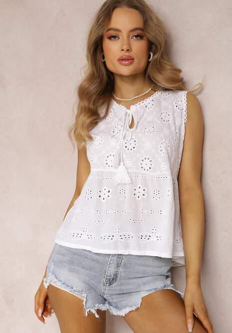Biała Bluzka Ashassa