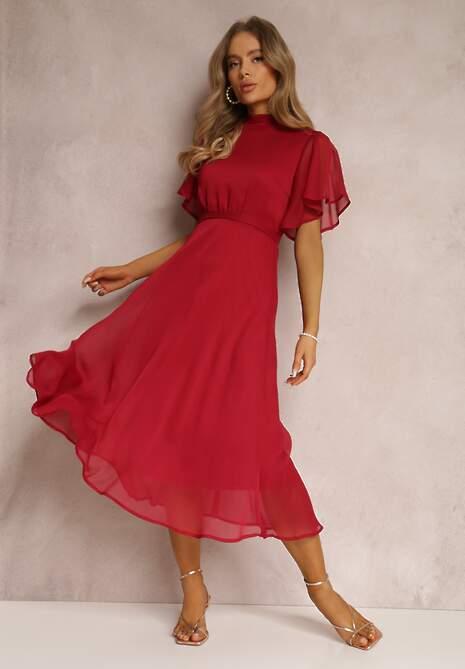 Bordowa Sukienka Syrissis