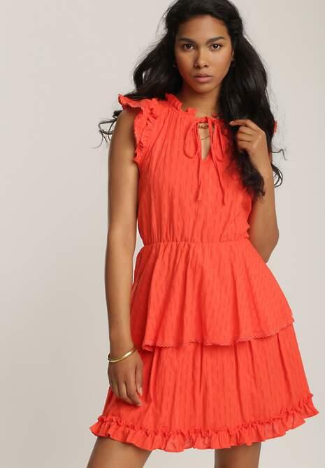 Czerwona Sukienka Calyphiche