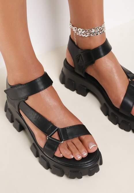 Czarne Sandały Proseshi