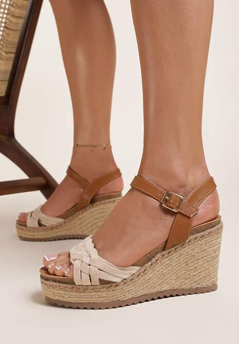 Beżowe Sandały Kathedice
