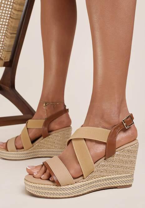 Beżowe Sandały Selestithea