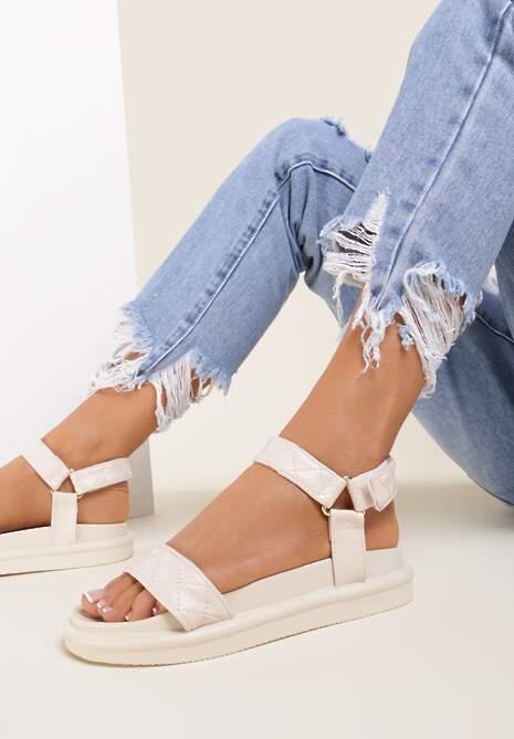 Beżowe Sandały Sabacia