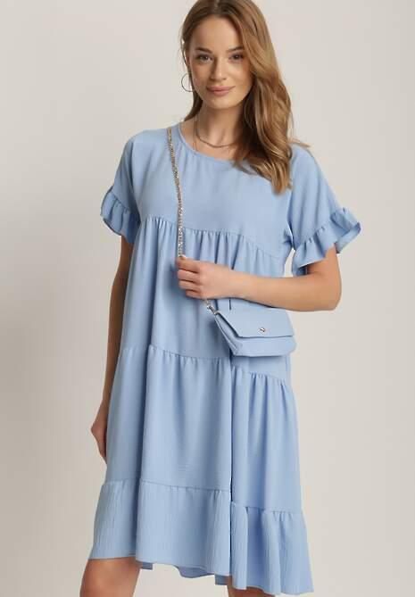 Jasnoniebieska Sukienka Z Małą Torebką Kaphiphelia