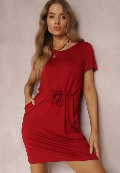 Bordowa Sukienka Zephisa
